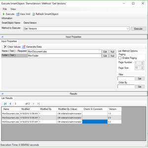 Manipuler différentes versions d'un document stocké dans SharePoint dans un formulaire K2