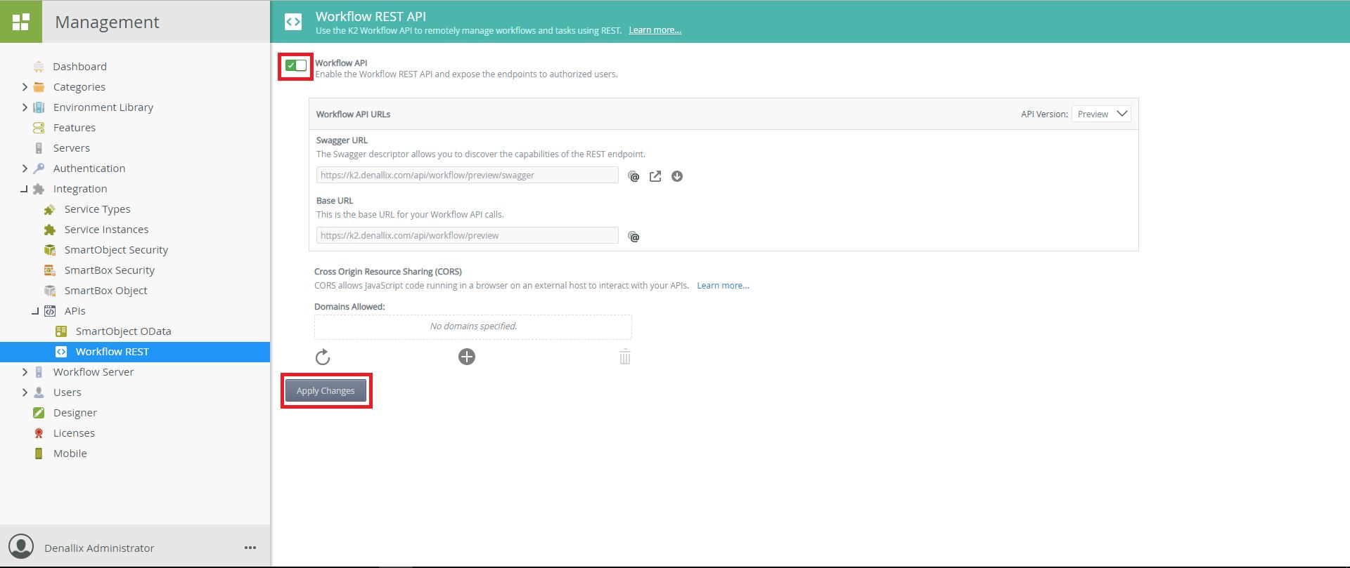API K2 - Apply Changes