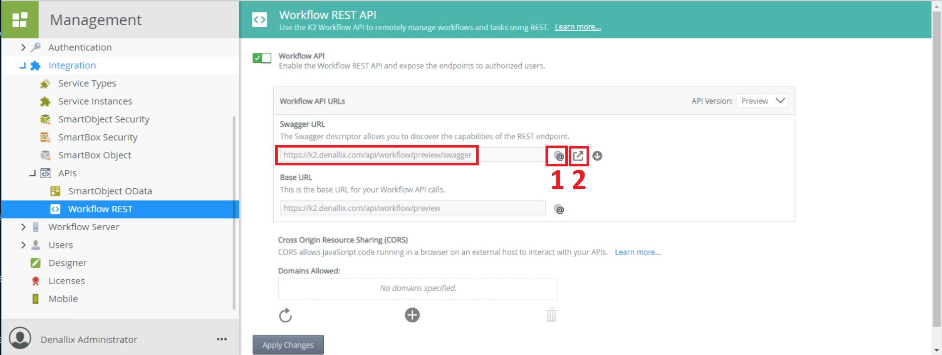 API K2 - Open Swagger